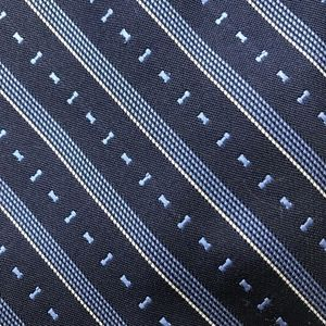 JCPenney Blue Barbell Striped Necktie A050700